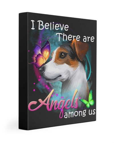 Jack Russell Terrier-Art-Canvas Angels