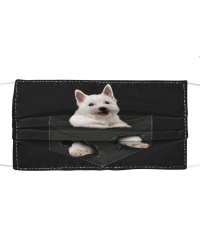 West Highland White Terrier-Face Mask-Pocket