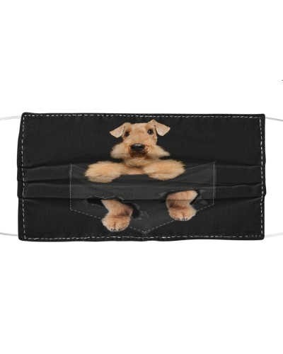 Airedale Terrier-Face Mask-Pocket