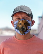 Rhodesian Ridgeback-Blue Mask Cloth face mask aos-face-mask-lifestyle-06