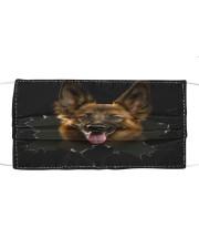 German Shepherd-Hole Crack Cloth face mask front