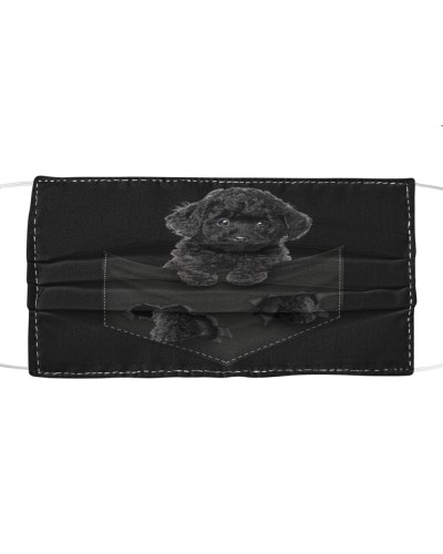 Poodle-Black-Face Mask-Pocket