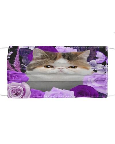 Exotic Shorthair Cat-Face Mask-Purple