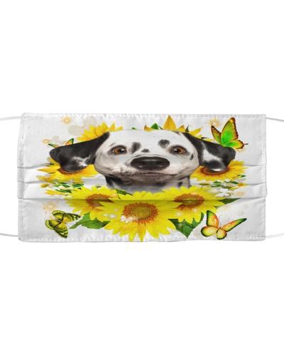 Dalmatian-Face Mask-Sunflower