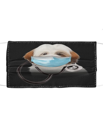 Lhasa Apso-Face Mask-Doctor