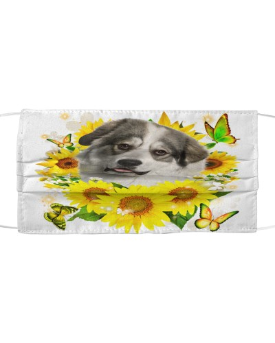 Great Pyrenees-Face Mask-Sunflower