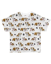 English Bulldog - Paw All-over T-Shirt front