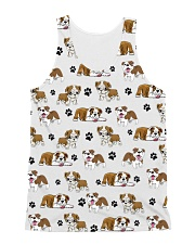 English Bulldog - Paw All-Over Unisex Tank tile