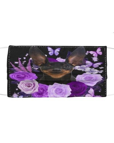 Miniature Pinscher-Face Mask-Purple