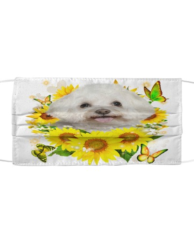 Bichon Frise-Face Mask-Sunflower