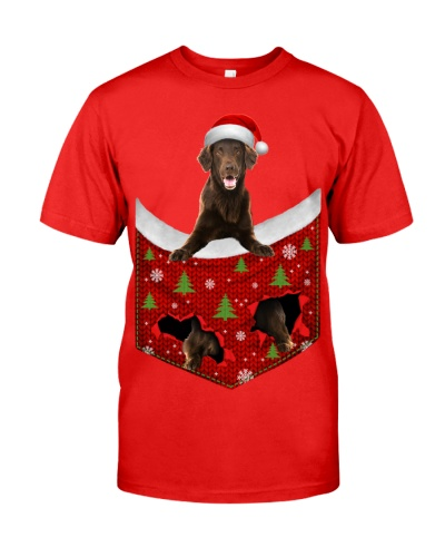 Flat Coated Retriever-Xmas-Pocket