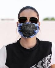 Pug-Black-Blue Mask Cloth face mask aos-face-mask-lifestyle-02