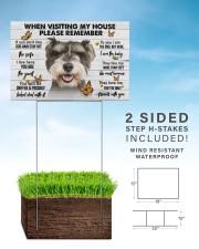 Miniature Schnauzer-Please 18x12 Yard Sign aos-yard-sign-18x12-lifestyle-front-26