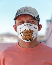 Yorkshire terrier-All About Me Cloth face mask aos-face-mask-lifestyle-06