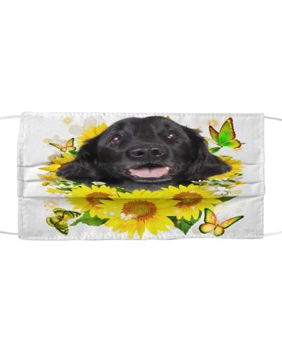 Flat Coated Retriever-Face Mask-Sunflower