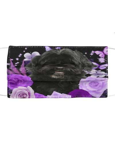 Portuguese Water-Face Mask-Purple