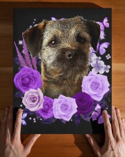 Border Terrier-Canvas Purple 11x14 Gallery Wrapped Canvas Prints aos-canvas-pgw-11x14-lifestyle-front-32