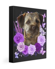 Border Terrier-Canvas Purple 11x14 Gallery Wrapped Canvas Prints front