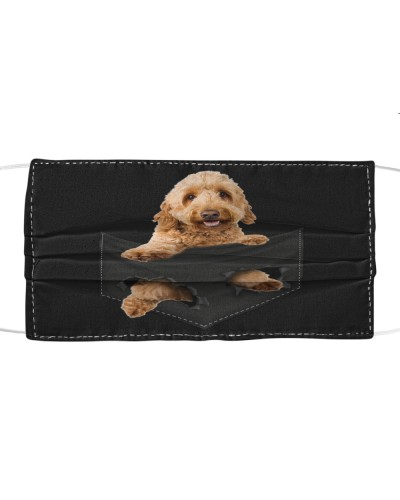 Goldendoodle-Face Mask-Pocket