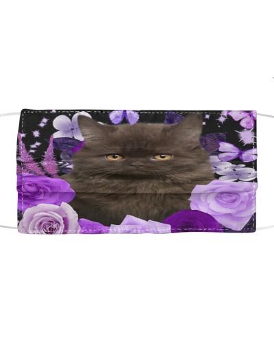 British Longhair Cat-Face Mask-Purple