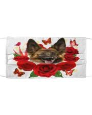 German Shepherd-Face Mask-Rose Cloth face mask front