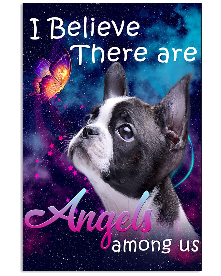 Boston Terrier-Angels-Poster 11x17 Poster