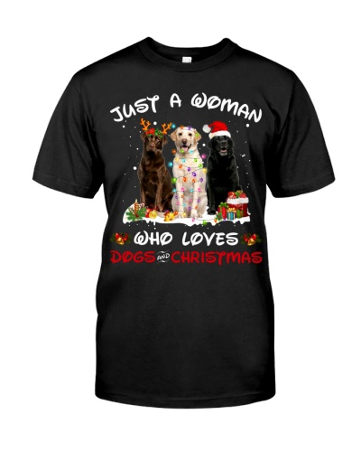 Labrador Retriever-Woman-Christmas
