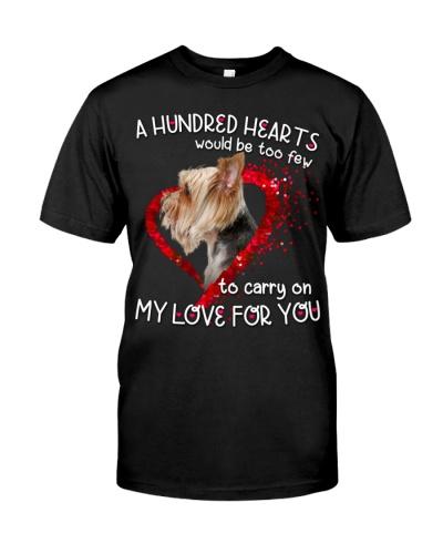 Yorkshire Terrier-Hundred Hearts