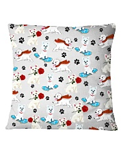 West Highland White Terrier - Paw Square Pillowcase thumbnail