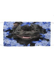 Staffordshire Bull Terrier-02-Blue Mask Cloth face mask front
