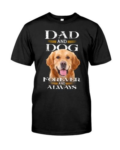 Golden Retriever-Dad And Dog