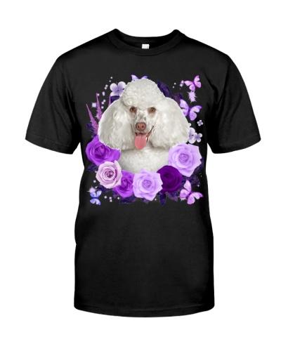 Poodle-White-Purple Flower
