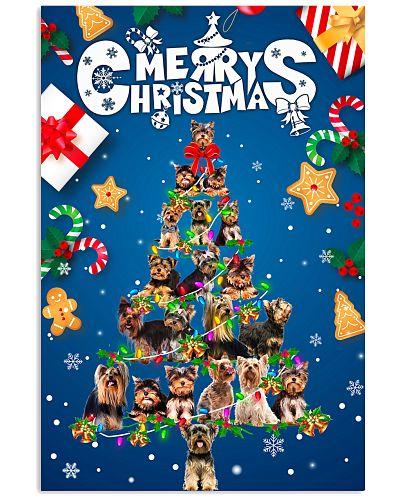 Yorkshire Terrier-Merry Christmas