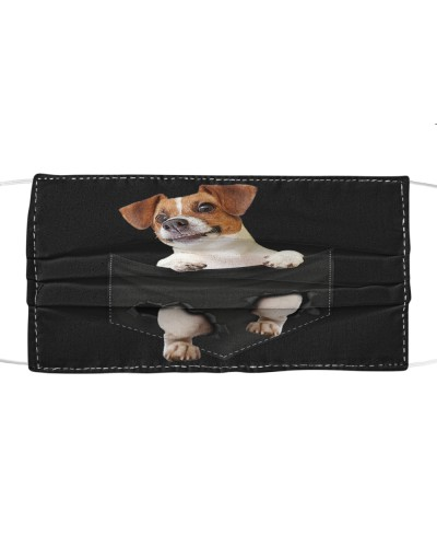 Jack Russell Terrier-Face Mask-Pocket