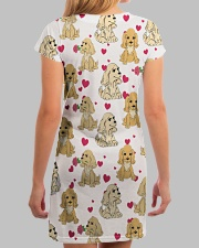 English Cocker Spaniel - Heart All-over Dress aos-dress-back-lifestyle-3