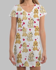 English Cocker Spaniel - Heart All-over Dress aos-dress-front-lifestyle-3