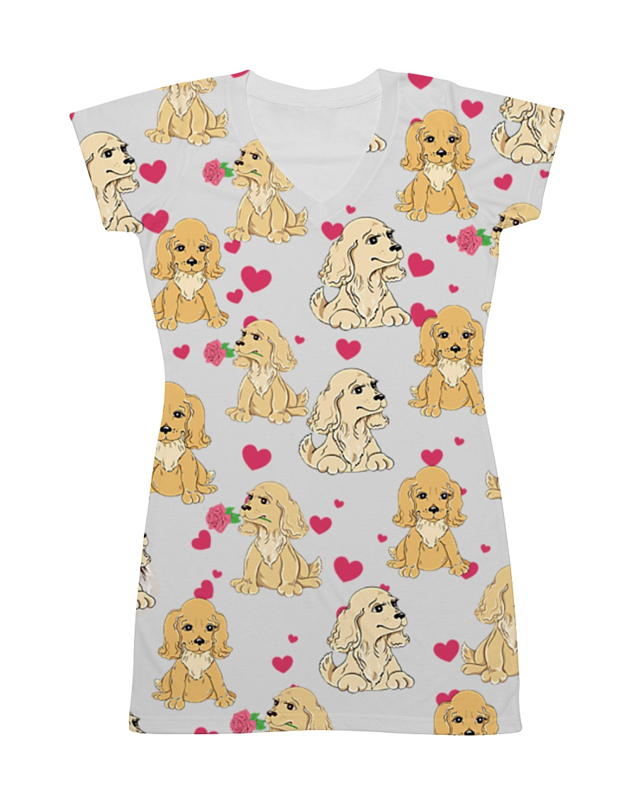 English Cocker Spaniel - Heart All-over Dress