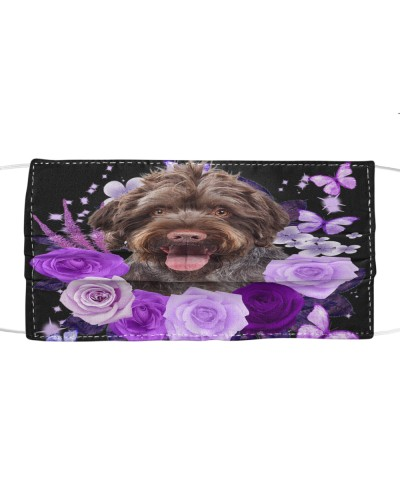 German Wirehaired Pointer-Face Mask-Purple