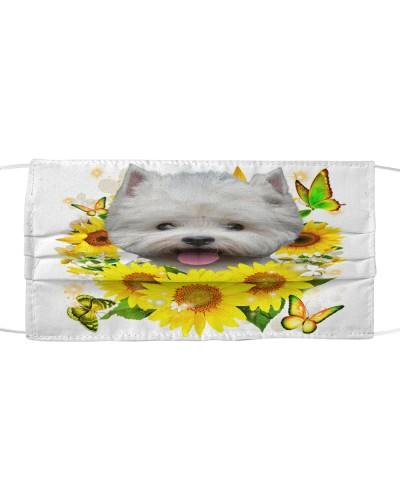 West Highland White Terrier-Face Mask-Sunflower