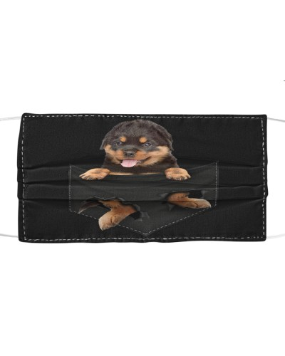 Rottweiler-Face Mask-Pocket