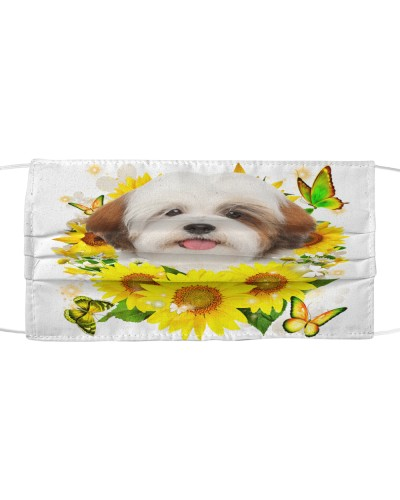 Lhasa Apso-Face Mask-Sunflower