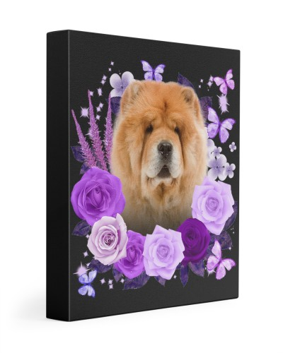 Chow Chow-Canvas Purple
