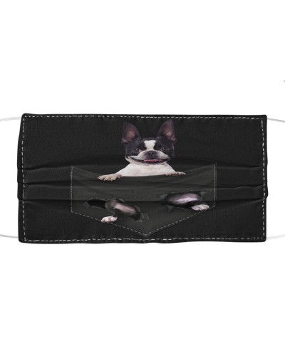 Boston Terrier-Face Mask-Pocket