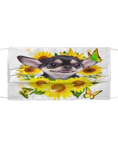 Chihuahua-Face Mask-Sunflower