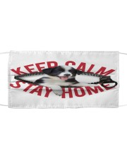 Border Collie-Mask-Stay Home Cloth face mask front