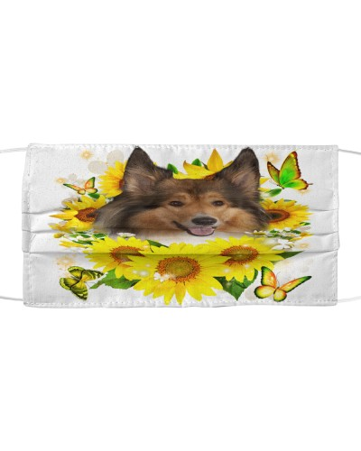 Rough Collie-Face Mask-Sunflower
