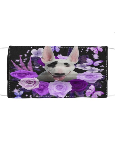 Bull Terrier-Face Mask-Purple