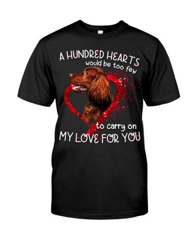 Irish Setter-Hundred Hearts
