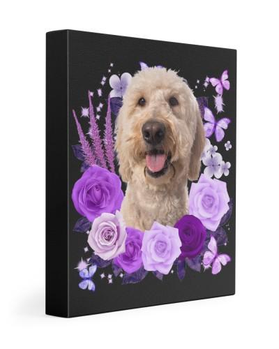Goldendoodle-Canvas Purple