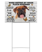 Boxer-Please 18x12 Yard Sign back